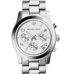 Michael Kors silver boyfriend watch